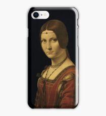 Leonardo Da Vinci - Portrait Of A Lady From The Court Of Milan  iPhone Case/Skin