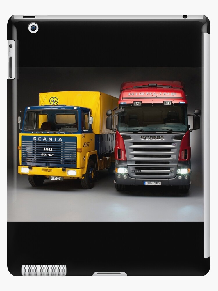 'Old generation to new generation Scania trucks' iPad Case/Skin by  Sam0Bamber