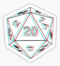 3D D20 Dice Sticker