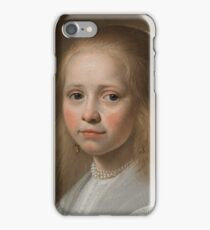 Johannes Cornelisz Verspronck - Portrait of a Girl Dressed in Blue 1641 iPhone Case/Skin