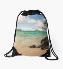 Lanikai Beach 1 - Oahu Hawaii Drawstring Bag