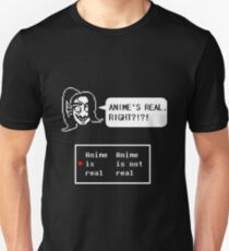 "Undertale - Undyne ""ANIME'S REAL RIGHT?!?!"" Transparent shirt T-Shirt"