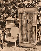 """""""OUTHOUSE AND NEXT IN LINE""""... prints and products by © Bob Hall"""