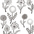 Dandelions design by Ibubblesart