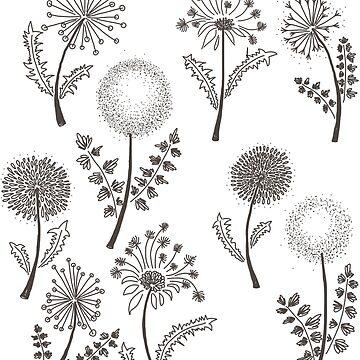 Dandelions design by Ibubblesart