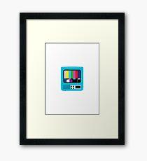 Vintage TV Framed Print