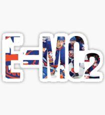 E=MC2 New York Islanders Martin, Cizikas, Clutterbuck  Sticker
