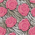Pink roses design seamless pattern background glass effect by fuzzyfox