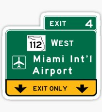Miami International Airport (MIA), Road Sign, Florida Sticker