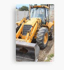 Construction Equipment Canvas Print