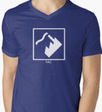 Record Label 4 (white) V-Neck T-Shirt