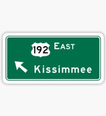 Kissimmee, Road Sign, Florida Sticker