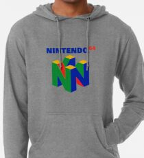 N64 Logo (With Text) Lightweight Hoodie