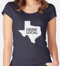 Texas Drink Local TX Women's Fitted Scoop T-Shirt
