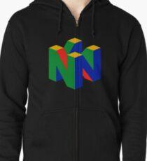 Sudadera con capucha y cremallera Logotipo N64 (sin texto)