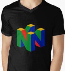 N64-Logo (ohne Text) T-Shirt mit V-Ausschnitt