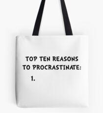 Procrastinate Tote Bag