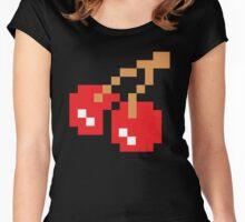 8-Bit Cherry Women's Fitted Scoop T-Shirt