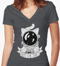 From The Skies Women's Fitted V-Neck T-Shirt