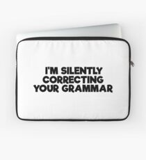 Geek Grammar School Smart Funny T-Shirts Laptop Sleeve