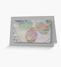 Easter colours Greeting Card