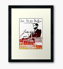 Ich bin ein Berliner, Berlin Wall, T-shirt Framed Print
