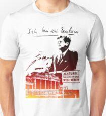 Ich bin ein Berliner, Berliner Mauer, T-Shirt Slim Fit T-Shirt
