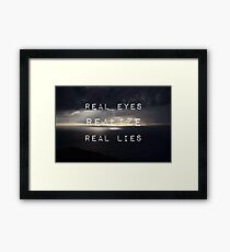 Flat earth,plane sight Framed Print