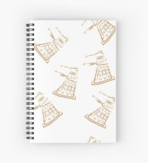 Dalek pattern Spiral Notebook