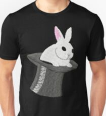 Stage Magic, Rabbit From a Top Hat Unisex T-Shirt