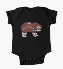 Folk Art Spirit Bear with Fish One Piece - Short Sleeve