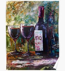 """Aged Wine"" Oil painting by Lena Owens/OLena Art Poster"