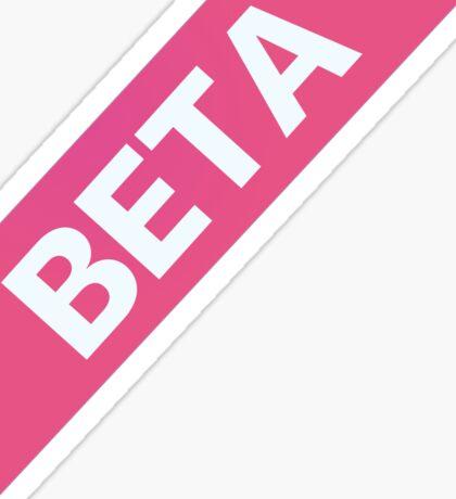 Beta Ribbon Sticker
