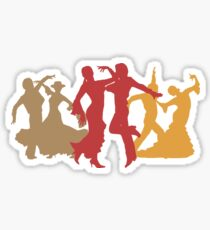 Colorful Flamenco Dancers Sticker