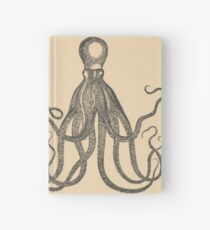 Vintage Natural History Octopus Hardcover Journal