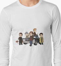 Supernatural Cartoon Design Long Sleeve T-Shirt
