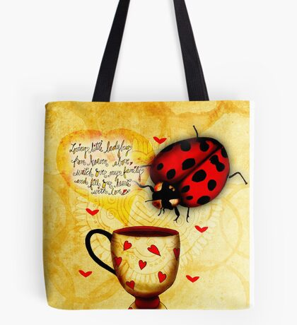 What my Coffee says to me March 4 2016 Tote Bag