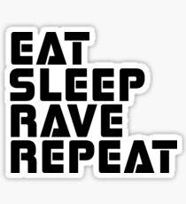 Techno Rave Disco House Trance Party Hard Music Sticker