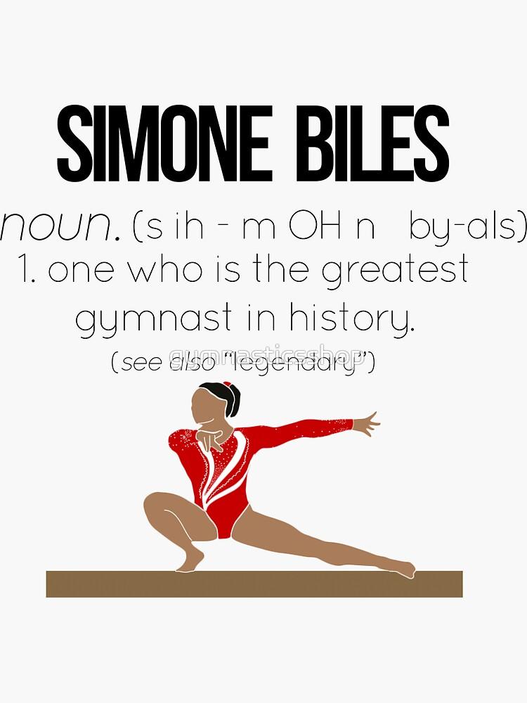 Definición de Simone Biles de gymnasticsshop