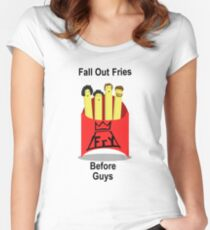 Fall Out Fries Women's Fitted Scoop T-Shirt