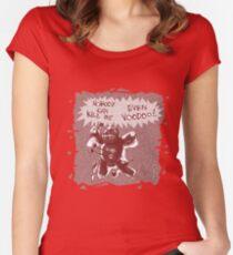 cartoon style voodoo baby  Women's Fitted Scoop T-Shirt