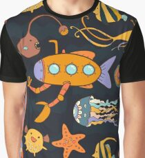Yellow submarine in the deep ocean Graphic T-Shirt