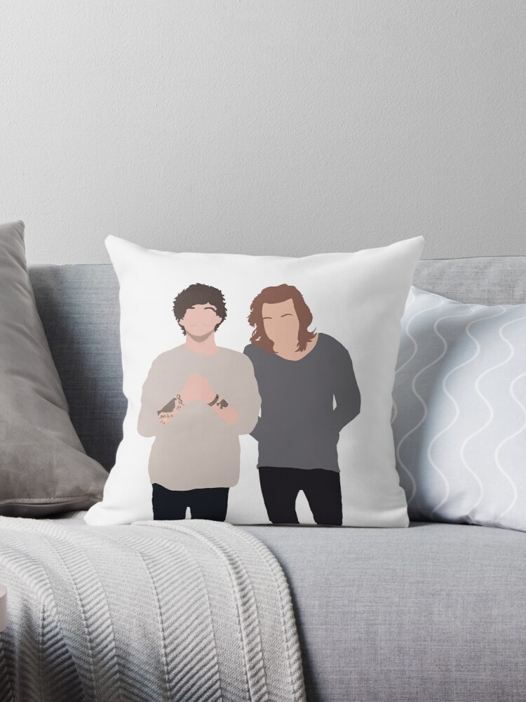 Larry Stylinson Throw Pillows By Eliannadraws Redbubble