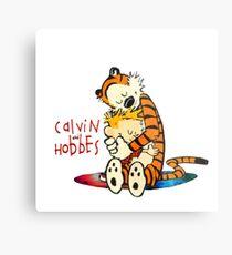 Calvin and Hobbes Big Hugs Nebula  Metal Print