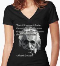 Camiseta entallada de cuello en V Einstein Quote Tee!