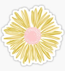 Gold Flower Sticker
