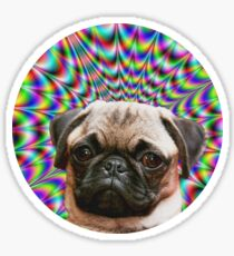 Psychedelic Pug Sticker