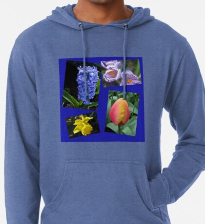 The Sweetness of Spring Floral Collage Leichter Hoodie