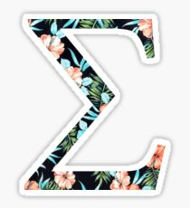 Sigma Floral Greek Letter Sticker