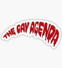 Pegatina La agenda gay